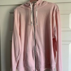 The Lounge Life Pink Hoodie Thumb Holes Plus Size